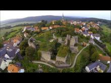 Burgruine Altenstein von oben. Video: Benedikt Eichler - Franconian Drone